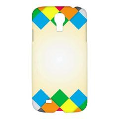 Plaid Wave Chevron Rainbow Color Samsung Galaxy S4 I9500/i9505 Hardshell Case by Mariart