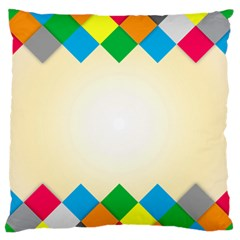 Plaid Wave Chevron Rainbow Color Standard Flano Cushion Case (one Side) by Mariart