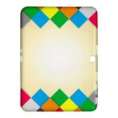 Plaid Wave Chevron Rainbow Color Samsung Galaxy Tab 4 (10 1 ) Hardshell Case  by Mariart