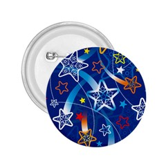 Line Star Space Blue Sky Light Rainbow Red Orange White Yellow 2 25  Buttons by Mariart