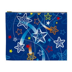Line Star Space Blue Sky Light Rainbow Red Orange White Yellow Cosmetic Bag (xl) by Mariart