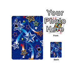 Line Star Space Blue Sky Light Rainbow Red Orange White Yellow Playing Cards 54 (mini)  by Mariart