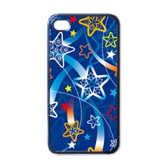 Line Star Space Blue Sky Light Rainbow Red Orange White Yellow Apple Iphone 4 Case (black) by Mariart