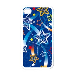 Line Star Space Blue Sky Light Rainbow Red Orange White Yellow Apple Iphone 4 Case (white) by Mariart