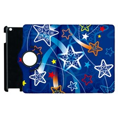 Line Star Space Blue Sky Light Rainbow Red Orange White Yellow Apple Ipad 2 Flip 360 Case by Mariart
