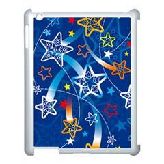 Line Star Space Blue Sky Light Rainbow Red Orange White Yellow Apple Ipad 3/4 Case (white) by Mariart