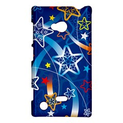 Line Star Space Blue Sky Light Rainbow Red Orange White Yellow Nokia Lumia 720 by Mariart