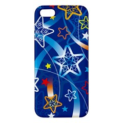 Line Star Space Blue Sky Light Rainbow Red Orange White Yellow Iphone 5s/ Se Premium Hardshell Case by Mariart