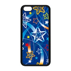 Line Star Space Blue Sky Light Rainbow Red Orange White Yellow Apple Iphone 5c Seamless Case (black) by Mariart