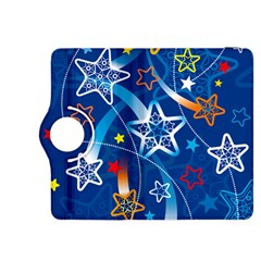 Line Star Space Blue Sky Light Rainbow Red Orange White Yellow Kindle Fire Hdx 8 9  Flip 360 Case by Mariart