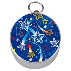 Line Star Space Blue Sky Light Rainbow Red Orange White Yellow Silver Compasses by Mariart