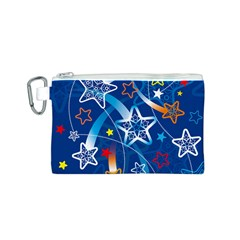 Line Star Space Blue Sky Light Rainbow Red Orange White Yellow Canvas Cosmetic Bag (s) by Mariart