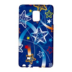 Line Star Space Blue Sky Light Rainbow Red Orange White Yellow Galaxy Note Edge by Mariart