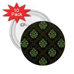 Leaf Green 2 25  Buttons (10 Pack)  by Mariart