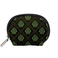 Leaf Green Accessory Pouches (small)  by Mariart