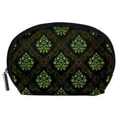 Leaf Green Accessory Pouches (large)  by Mariart
