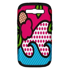 Rose Floral Circle Line Polka Dot Leaf Pink Blue Green Samsung Galaxy S Iii Hardshell Case (pc+silicone) by Mariart