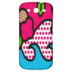 Rose Floral Circle Line Polka Dot Leaf Pink Blue Green Samsung Galaxy S3 S Iii Classic Hardshell Back Case by Mariart