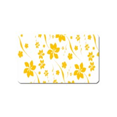 Shamrock Yellow Star Flower Floral Star Magnet (name Card) by Mariart
