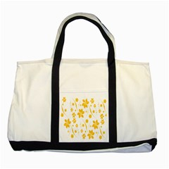 Shamrock Yellow Star Flower Floral Star Two Tone Tote Bag by Mariart