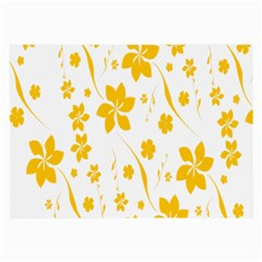 Shamrock Yellow Star Flower Floral Star Large Glasses Cloth by Mariart