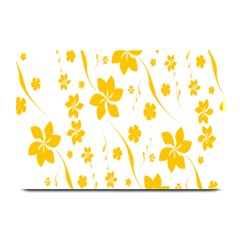 Shamrock Yellow Star Flower Floral Star Plate Mats by Mariart
