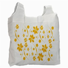 Shamrock Yellow Star Flower Floral Star Recycle Bag (two Side)  by Mariart