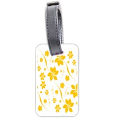 Shamrock Yellow Star Flower Floral Star Luggage Tags (one Side)  by Mariart