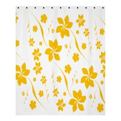 Shamrock Yellow Star Flower Floral Star Shower Curtain 60  X 72  (medium)  by Mariart