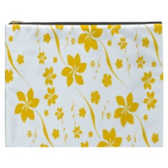 Shamrock Yellow Star Flower Floral Star Cosmetic Bag (xxxl)  by Mariart