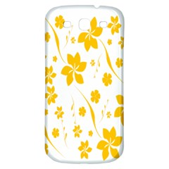 Shamrock Yellow Star Flower Floral Star Samsung Galaxy S3 S Iii Classic Hardshell Back Case by Mariart