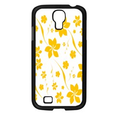 Shamrock Yellow Star Flower Floral Star Samsung Galaxy S4 I9500/ I9505 Case (black) by Mariart