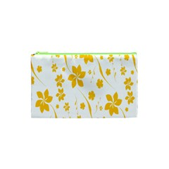 Shamrock Yellow Star Flower Floral Star Cosmetic Bag (xs) by Mariart