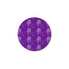 Purple Flower Rose Sunflower Golf Ball Marker by Mariart