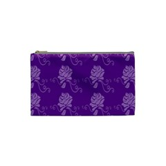 Purple Flower Rose Sunflower Cosmetic Bag (small)  by Mariart