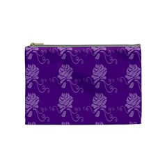 Purple Flower Rose Sunflower Cosmetic Bag (medium)  by Mariart
