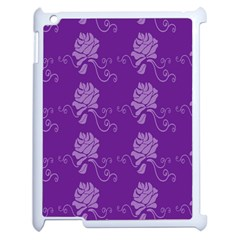 Purple Flower Rose Sunflower Apple Ipad 2 Case (white) by Mariart