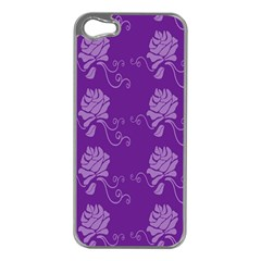 Purple Flower Rose Sunflower Apple Iphone 5 Case (silver) by Mariart