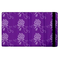 Purple Flower Rose Sunflower Apple Ipad 3/4 Flip Case by Mariart