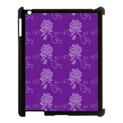 Purple Flower Rose Sunflower Apple Ipad 3/4 Case (black) by Mariart