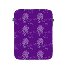 Purple Flower Rose Sunflower Apple Ipad 2/3/4 Protective Soft Cases by Mariart