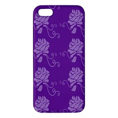 Purple Flower Rose Sunflower Iphone 5s/ Se Premium Hardshell Case by Mariart