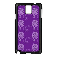 Purple Flower Rose Sunflower Samsung Galaxy Note 3 N9005 Case (black) by Mariart