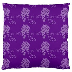 Purple Flower Rose Sunflower Standard Flano Cushion Case (one Side) by Mariart