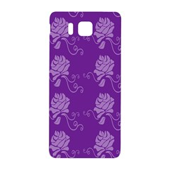 Purple Flower Rose Sunflower Samsung Galaxy Alpha Hardshell Back Case by Mariart