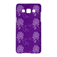 Purple Flower Rose Sunflower Samsung Galaxy A5 Hardshell Case  by Mariart