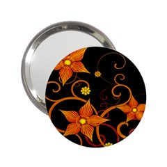 Star Leaf Orange Gold Red Black Flower Floral 2 25  Handbag Mirrors by Mariart