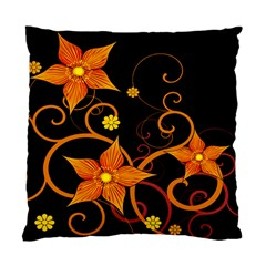 Star Leaf Orange Gold Red Black Flower Floral Standard Cushion Case (one Side) by Mariart