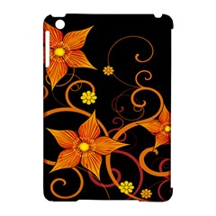 Star Leaf Orange Gold Red Black Flower Floral Apple Ipad Mini Hardshell Case (compatible With Smart Cover) by Mariart
