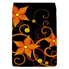 Star Leaf Orange Gold Red Black Flower Floral Flap Covers (s)  by Mariart